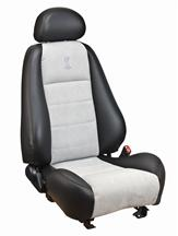 Mustang Cobra Convertible Leather Seat Upholstery  with Medium Graphite Suede Inserts (03-04)