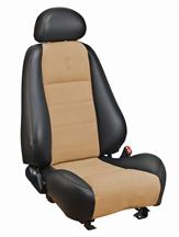 Mustang TMI Cobra Convertible Leather Seat Upholstery with Parchment Suede Inserts (03-04)