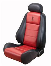 Mustang Cobra Convertible Leather Seat Upholstery w/ Red Leather Inserts (03-04)