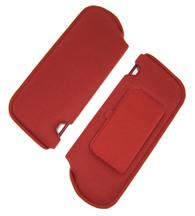 Mustang Sun Visors with Vanity Mirror Canyon Red Cloth (85-86)