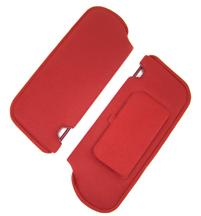 Mustang Sun Visors with Vanity Mirror Scarlet Red Cloth (87-92)