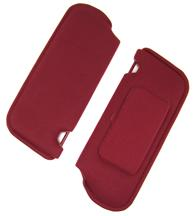 Mustang TMI Sun Visors with Vanity Mirror Ruby Red Cloth (1993)