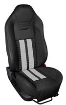 Mustang TMI Sport R500 Upholstery Kit Black/White (05-07) Coupe