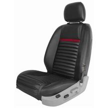 Mustang Mach 1 Upholstery Black/Red Stripe Vinyl (05-07) Coupe