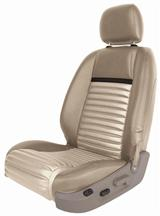 Mustang TMI Mach 1 Upholstery Tan/Black Stripe Vinyl (05-07) Coupe