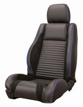 Mustang Sport R Upholstery Black/ Blue Stitching Leather (05-07) Convertible