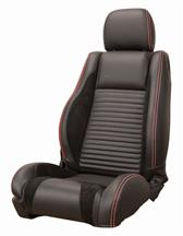 Mustang Sport R Upholstery Black/Red Stitching Leather (05-07) Convertible