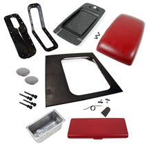 Mustang Console Resto Kit w/ Arm Rest (Auto) Scarlet Red (87-93)