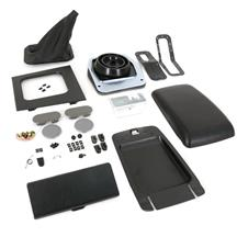 Mustang Complete Console Resto Kit  - Black - Manual (87-93)