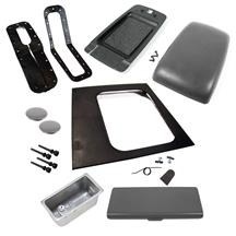 Mustang Console Resto Kit w/ Arm Rest (Auto) Smoke Gray (87-93)