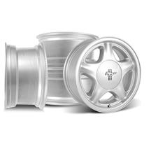 Mustang Pony Wheel & Pony Center Cap Kit - 16x7  - Silver (79-93)