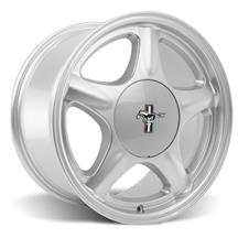 Mustang Pony Wheel & Ford Licensed Center Cap - 17x8 Silver (79-93)