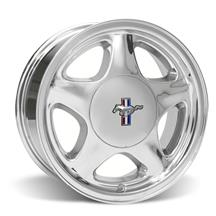 Mustang Pony Wheel & Center Cap - 17x9 Chrome (79-93)
