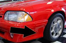 Mustang Front 93 Cobra Style Fender Extensions (87-90)