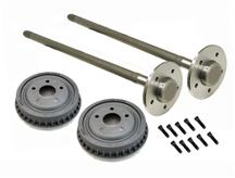 Mustang 5 Lug Rear 28 Spline Axle & Drum Kit (79-93)