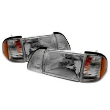 Mustang SVE Smoked Headlight Kit w/ Amber Side Markers (87-93)