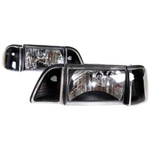 Mustang Black Headlight Kit (87-93)