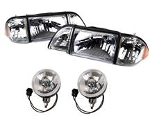 Mustang SVE Ultra Clear Headlight & Fog Light Resto Kit (87-93)