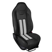 Mustang TMI Sport R500 Upholstery Kit Black W/ Black Unisuede & White Stripes (13-14) Convertibl...