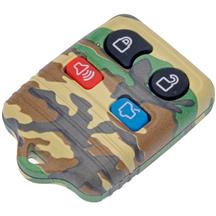 Mustang Green Camouflage Key Fob Case (99-09)