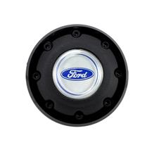 Mustang 3-Spoke Steering Wheel Horn Button  w/ Black Outer Rim (79-82)