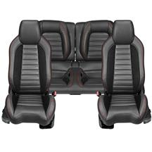 Mustang TMI Sport R Seat Upholstery & Foam Kit  - Black w/ Red Stitching (15-17)