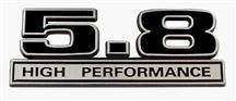 Mustang 5.8L High Performance Emblem Black  (79-95)