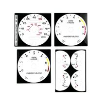 Mustang White Face Gauge Kit  - 85 MPH Speedo (87-89) 5.0