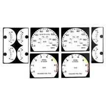 Mustang White Face Gauge Kit  - 140 MPH Speedo (90-93) 5.0