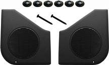 Mustang Door Speaker Grille Kit Black (87-93)