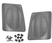 Mustang Hatch Speaker Grille Kit Smoke Gray (87-93)