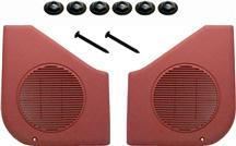 Mustang Door Speaker Grille Kit Scarlet Red (87-93)