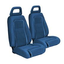 Mustang TMI Sport Seat Upholstery Medium Blue Cloth (1983) Convertible