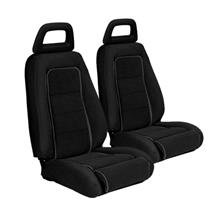 Mustang TMI Sport Seat Upholstery Black Cloth (1983) Hatchback