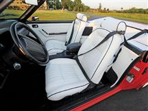 Mustang TMI Sport Seat Upholstery White Leather (1992) LX Convertible
