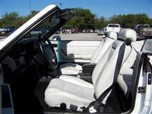 Mustang TMI Sport Seat Upholstery White Leather (1993) Convertible