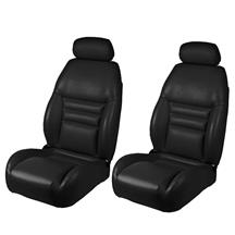 Mustang TMI Front Sport Seat Upholstery  - Black Vinyl (1998)