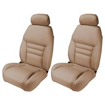 Mustang TMI Front Sport Seat Upholstery  - Saddle Tan Vinyl (1998)