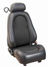 Mustang TMI Bullitt Seat Upholstery Dark Charcoal Leather (2001)