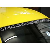 Mustang LateModelRestoration Windshield Banner  Silver (15-18)