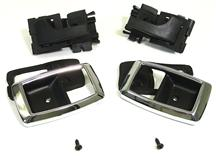 Mustang Deluxe Inner Door Handle And Bezel Kit Black/Chrome (79-93)