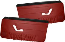 Mustang Acme Deluxe Door Panels for Hardtop w/ Power Windows Scarlet Red (90-92)