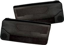 Mustang Acme Deluxe Door Panels for Convertible w/ Power Window w/ Power Windows Black (88-89)