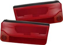 Mustang Acme Deluxe Door Panels for Convertible w/ Power Window Scarlet Red (88-89)