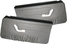 Mustang Deluxe Door Panels for Hardtop w/ Power Windows Titanium Gray (90-92)