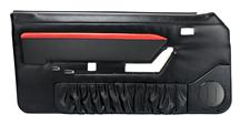Mustang TMI Mach 1 Style Door Panels w/ Power Windows Black/Red (87-89)