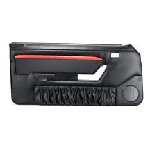 Mustang TMI Mach 1 Style Door Panels w/ Power Windows Red/Black (90-93)