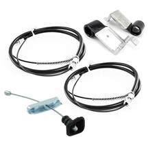 Mustang Emergency Brake Cable Kit - Rear Drum (87-92)