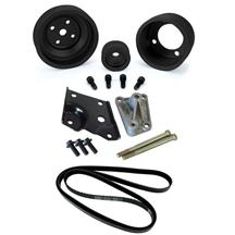 Mustang 5.0L Off Road Accessory Drive Kit - Black Pulleys (85-93)
