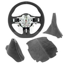 Mustang GT350 Interior Conversion Kit - Automatic  - Charcoal w/ Silver Stitching (15-17)